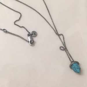 Madewell branded turquoise necklace